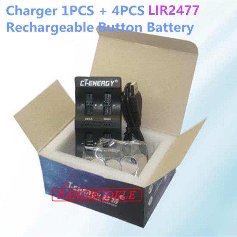 1 PCS + 4 PCS Botão Bateria
