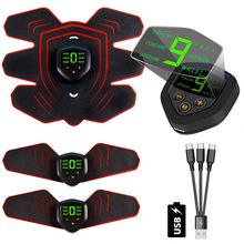 EMS Muscle Electro Stimulator Abdominal Muscle Toner Abs Trainer with LCD Display USB Rechargeable Fitness Training Gear Ab Belt все цены