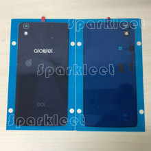 Original Battery Cover For Alcatel One Touch Idol 4 6055 OT6055 6055K 6055B 6055Y Battery Door Housing Phone Glass Case(China)