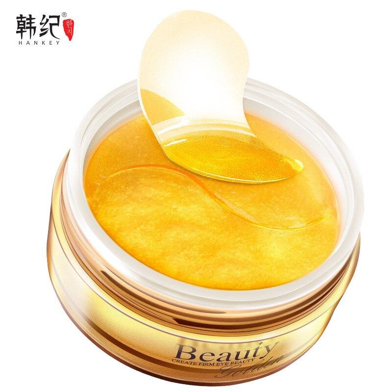 60pcs Gold Collagen Eye Mask Eye Patch Under the Eyes Anti Stripe Ageless Hyaluronic Acid Facial Treatment Korean Cosmetics цена