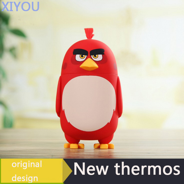 <font><b>Angry</b></font> <font><b>Birds</b></font> Thermos <font><b>Cup</b></font> Thermo Mug Drinkware Kids Water Bottle Stainless Steel Child Vacuum Flask <font><b>cup</b></font> Tumbler leak-proof Tumbler