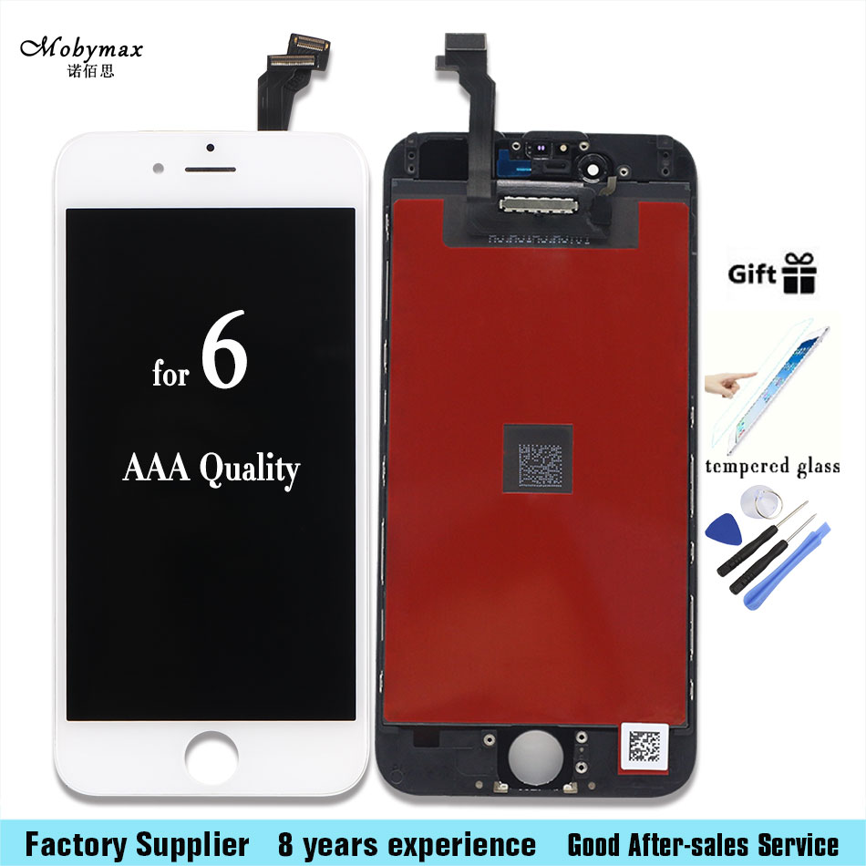 Mobymax LCD Display Touch Screen Digitizer Assembly Replacement for iPhone 6 7 for iphone 6s plus 4.7&5.5 inch+tools+glass film
