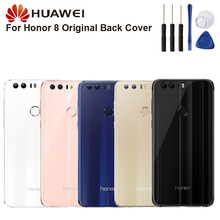 Huawei Original Back Battery Cover Housing For Huawei Honor 8 Honor8 FRD-AL00 Battery Back Rear Glass Case back glass for huawei honor 8 glass back cover housing battery cover case for honor8 back glass replacement parts