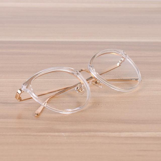 3a2242f1fe6 Women And Men s Hot sale Pink Spectacle Frame Clear Fashion Glasses Myopia  Optical Frame Male Female