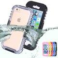 Ip-68 híbrido de servicio pesado resistente al agua natación buceo caso para apple iphone 6 6 s plus 4.7 & 5.5 5S sí agua/dirt/a prueba de choques teléfono bolsa