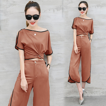 Runway Festival Set 2 Piece Outfits for Women Fashion Matching Co-ord 2019 Summer Top and Pant Suits White Designer Clothing
