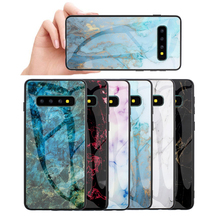 Luxury Marble Tempered Glass Case For Samsung Galaxy S10 S9 S8 Plus Granite Back Cover Note 9 8 M10 M20