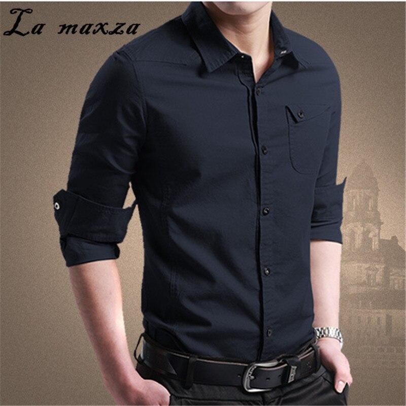 Hemden Hemden Zielsetzung Plus Größe Casual Bodycon Vintage Koreanische Männer Hemd Herbst Mode Lange Ärmel Streetwear Übergroßen Shirts Hitze Und Durst Lindern.