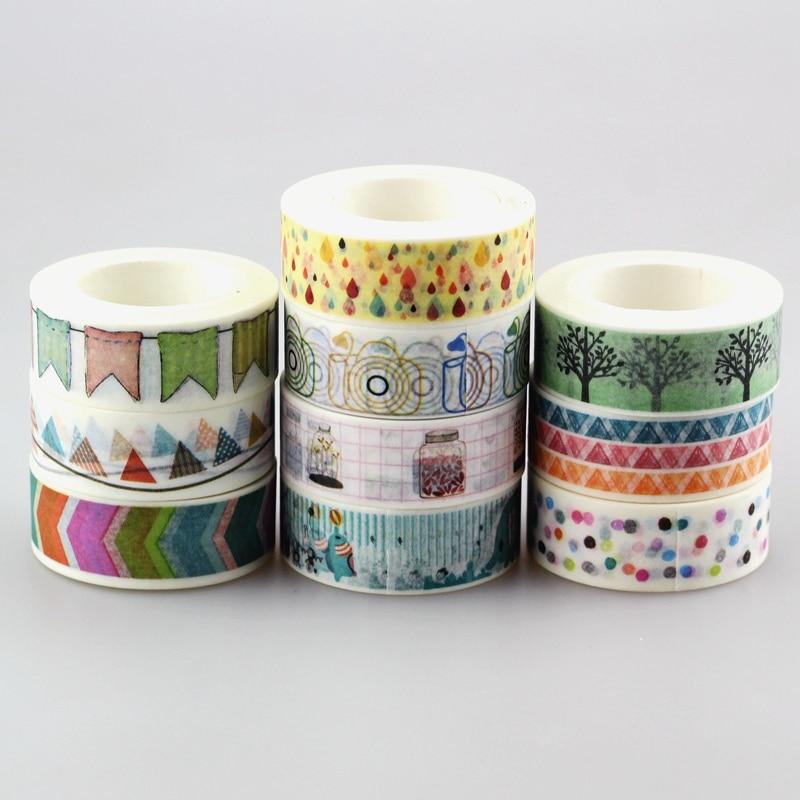 DHL free shipping Cute Kawaii 100pcs / Lot Tape Flowers Scrapbooking DIY Decorative Adhesive Japanese Washi Paper Tape For Gift
