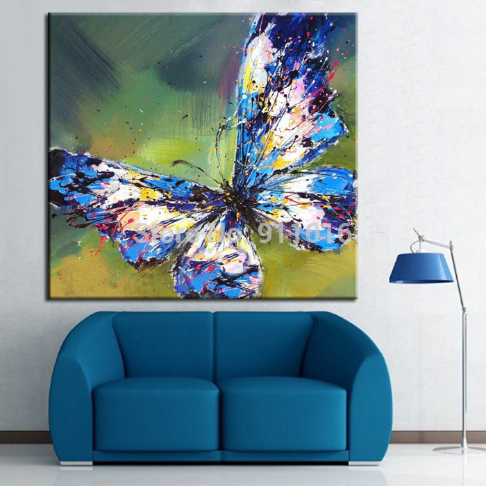 Newest Handmade Diffe Color Erflies Oil Painting On Canvas For Living Room Decoration Hang Modern Erfly In Calligraphy From