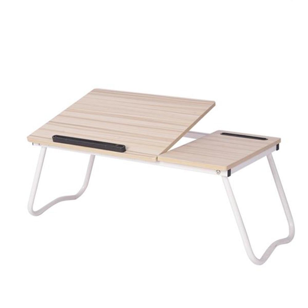 Folding Laptop Desk For Bed With Slot Adjustable Angle 79*36*27CM A1#2 White Maple Adjustable Laptop Desk Foldable Table Bed