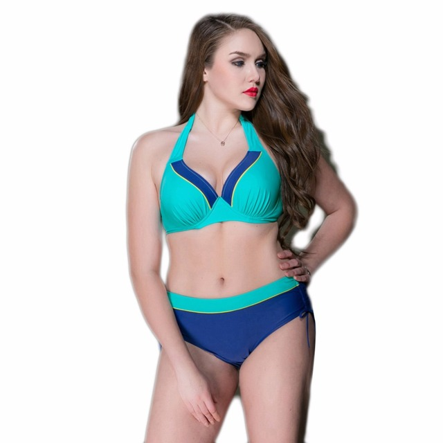 9276d5dc55 PNT New Sexy 2017 Bikini Plus Size Swimwear Women Swimsuit High Waist  Bathing Suit Push Up Bikini Set Halter Top Beach Swim Wear