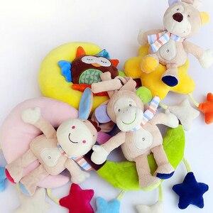2014 новая луна Животное подвеска для коляски детские погремушки игрушки заводная музыка мягкая плюшевая кукла детские игрушки для детей под...