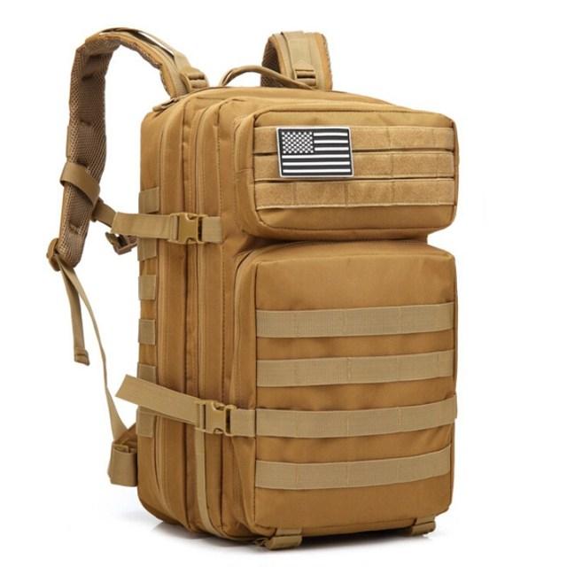 45L ขนาดใหญ่ความจุ Man กองทัพทหารกระเป๋าเป้สะพายหลัง Multi Function 900D ไนลอนยุทธวิธี Pack Back กระเป๋าเป้สะพายหลัง mochila Militar