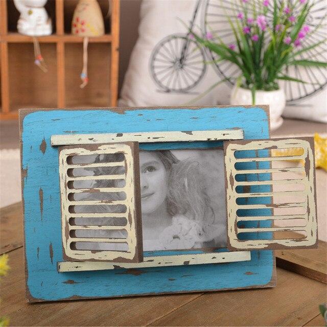 Zakka Groceries Frame Make Old Wood Resin Europe Style Vintage ...