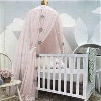 Baby Mosquito Net Hanging Curtain Round Hung Crib Children Princess Girls Crib Netting Tent Bed Dome