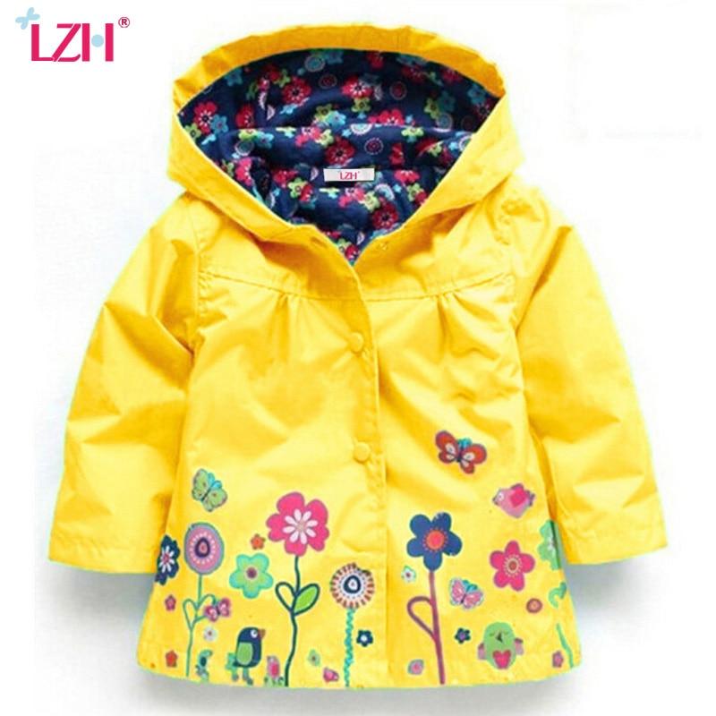 LZH 2017 Autumn Winter Girls Jacket For Girls Windbreaker Boys Jacket Kids Raincoat Trench Coat Children Outerwear Girls Clothes