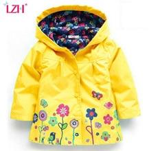 LZH Trench Coat For Girls Jacket 2018 Spring Flower Jackets For Girls Windbreaker Boys Kids Raincoat