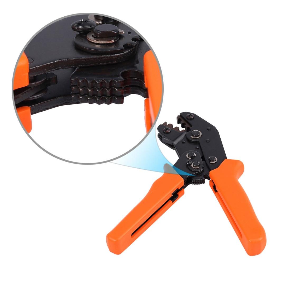 מחשבים ניידים ואביזרים 1pc Ferrule Crimping פלייר 22-16AWG 0.5-1.5mm2 + 300pcs 2.8 / 3.96 / 4.8 / 5.08 / 6.3mm מסופי ספייד מחברים Set (3)