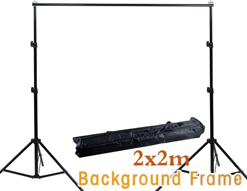 Professional 200cm 200cm Background Frame Universal Folding Camera Tripod FLASHLIGHT LED LIGHT BACKGROUND VIDEO CAMERA