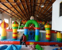 Children amusement park inflatable indoor trampoline for sale