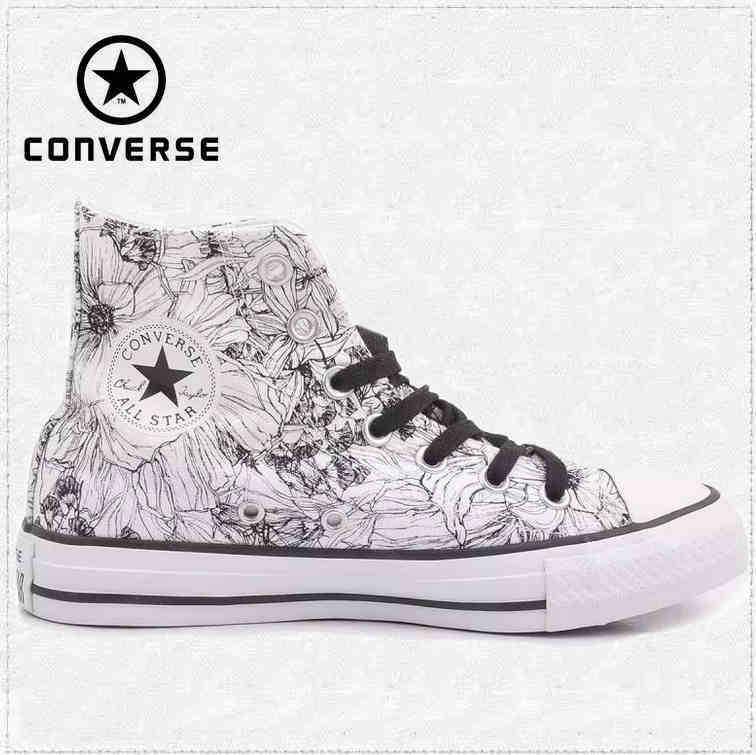 converse all star blanco y negro