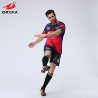 2016 Newest Design Full Sublimation Custom Soccer Jersey For Men In Top Quality 100 Polyester