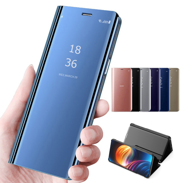 Smart Mirror Flip Phone Case For Samsung Galaxy S10 S10