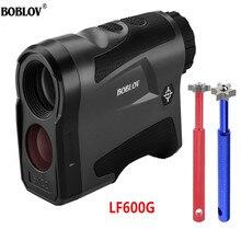 BOBLOV LF600G/LF600AG 600M Afstandmeter Laser JOLT Reminder Slope 6X hunting RangeFinder Distance Flag locking Black Color