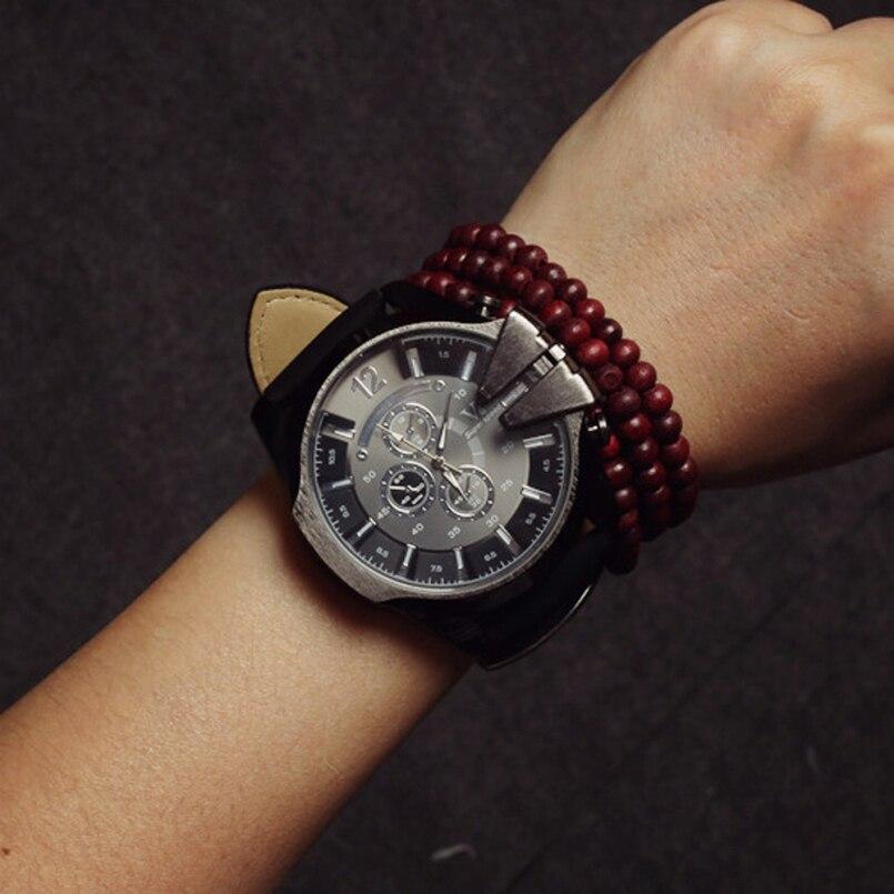 Excellent Quality 2016 Brand Watches men Casual Quartz Leather wristwatches Military reloj hombre mens clock relogio masculino