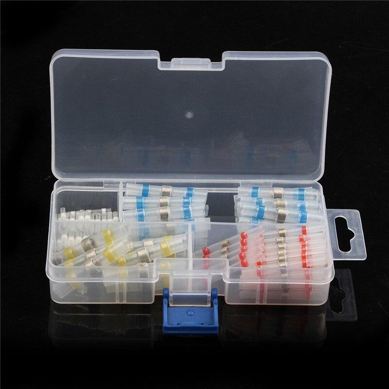YT 50/100 Pcs Wasserdicht Solder Seal Butt Terminals Isolierte Elektrische Draht Kabel Verzinnt Kupfer Anschlüsse Kit