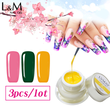 Lvmay Brands Painting Gel Soak Off Well Package Dense Thick Solid DIY Drawing Art Paint Color UV  Curing Nails Polish NO Leaks 3 pcs set kit lvmay brand painting gel polish nail art color 3d drawing paint curing lamp soak off professional nails top it off