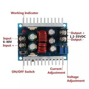 Image 5 - DC 6 40V כדי 1.2 36V 300W 20A זרם קבוע מתכוונן באק ממיר צעד למטה מודול לוח עם הגנה קצרה
