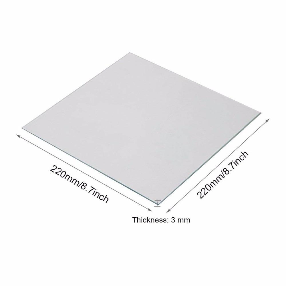 Clean and Clear Borosilicate Glass Heat Bed 220x220x3mm for MK2/MK2A ANET A8 A6 Mendel Reprap 3D Printer clean and clear borosilicate glass heat bed 220x220x3mm for mk2 mk2a anet a8 a6 mendel reprap 3d printer