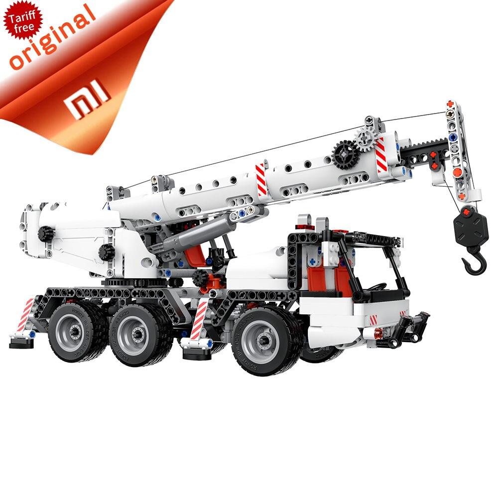 Fijn Originele Xiao Mi Mi Tu Bouwstenen Techniek Auto Mi Blokken Voertuigen Truck Simulatie Reductie Truck Multi Techniek Kraan