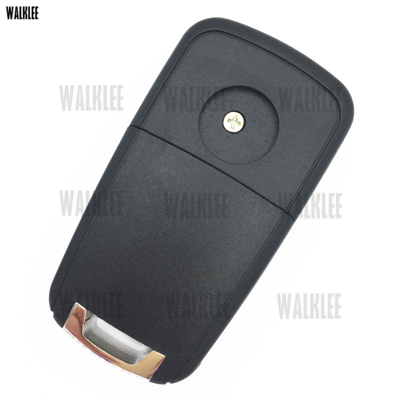 WALKLEE 3 Buttons 433MHz Remote Key Fit for Opel/Vauxhall Astra J, Corsa E, Insignia, Zafira C, Auto Door Lock Control