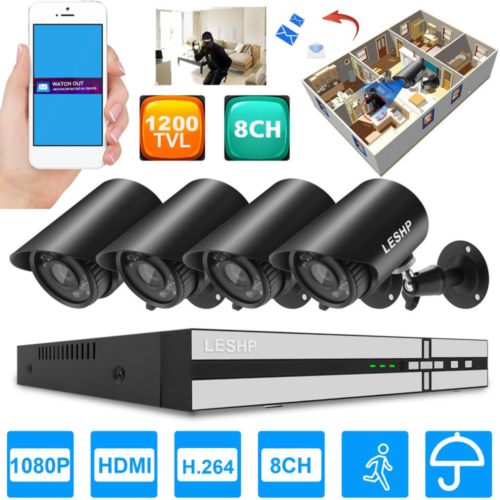 Universal Home Security Waterproof System 960P Recording Camera 8 CH Network font b Webcam b font