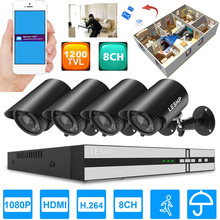 Universal Home Security Waterproof System 960P Recording Camera 8 CH Network Webcam CCTV System AHD Surveillance Kit EU Plug