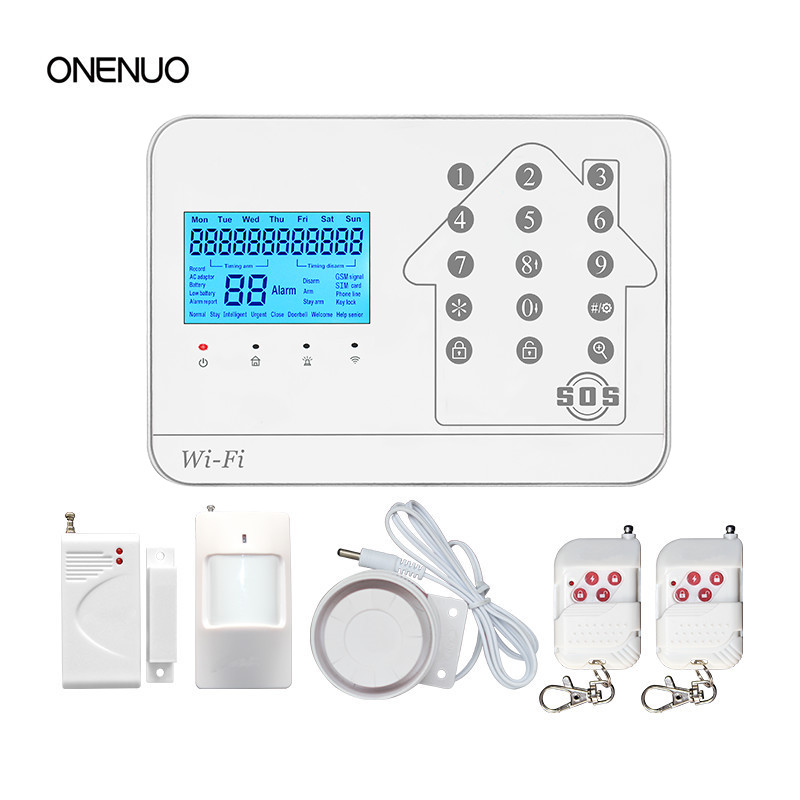 Hot sale 433mhz wireless home alarms system with GSM WIFI PSTN function control Free Shipping GSM WIFI PSTN alarm system