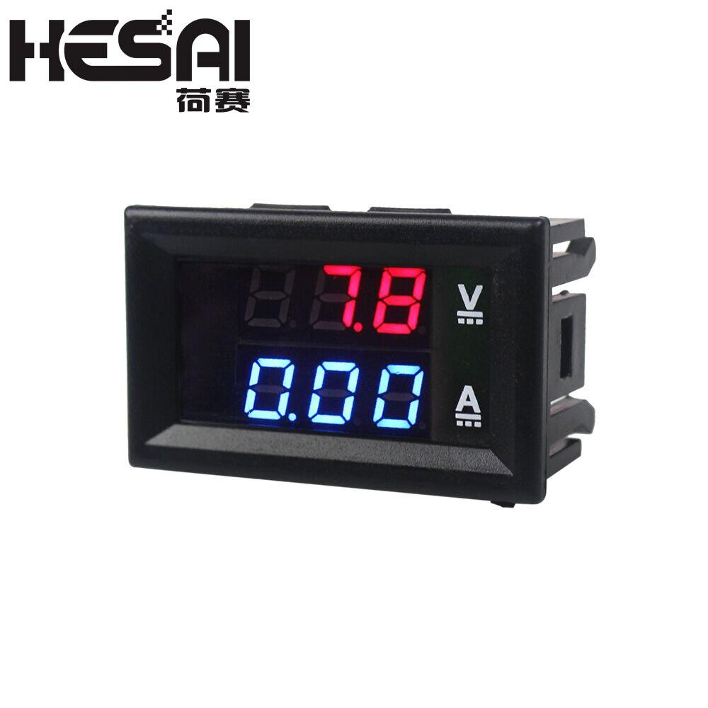 高品質 DC 100V 10A 電圧計電流計青 + 赤色 Led アンプデュアルデジタル電圧計ゲージ|電圧計|ツール -