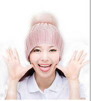 2015 Hot Sale Women Cap Winter Hats Genuine Fox Fur Touca Hats 30 Wool Hip Hop