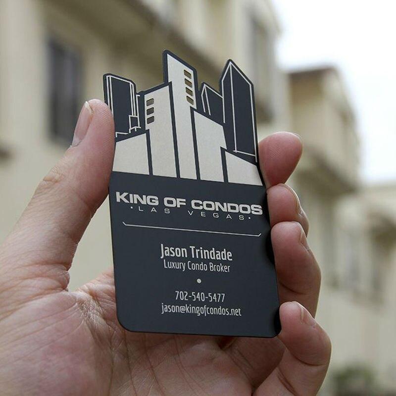 Haute Grade Ferreux En Metal Carte De Visite Creative