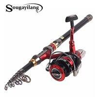 Sougayilang Spinning Fishing Rod Set 1.8 3.6m Telescopic Fishing Rod With 14BB Spinning Fishing Reel Sea Fishing Combo De Pesca