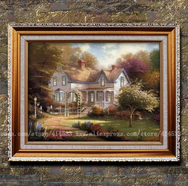 Prints thomas kinkade oil painting home is where the heart - Home interiors thomas kinkade prints ...