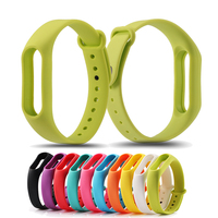 1 Piece Colorful Silicone Wrist Strap Bracelet Color Replacement watchband for Original Miband 2 Xiaomi Mi band 2 Wristbands