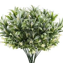 Искусственные пластиковые лилии цветы растения поддельные листья садовые кустарники зеленая трава кусты искусственная утренняя Глория домашнее наружное украшение