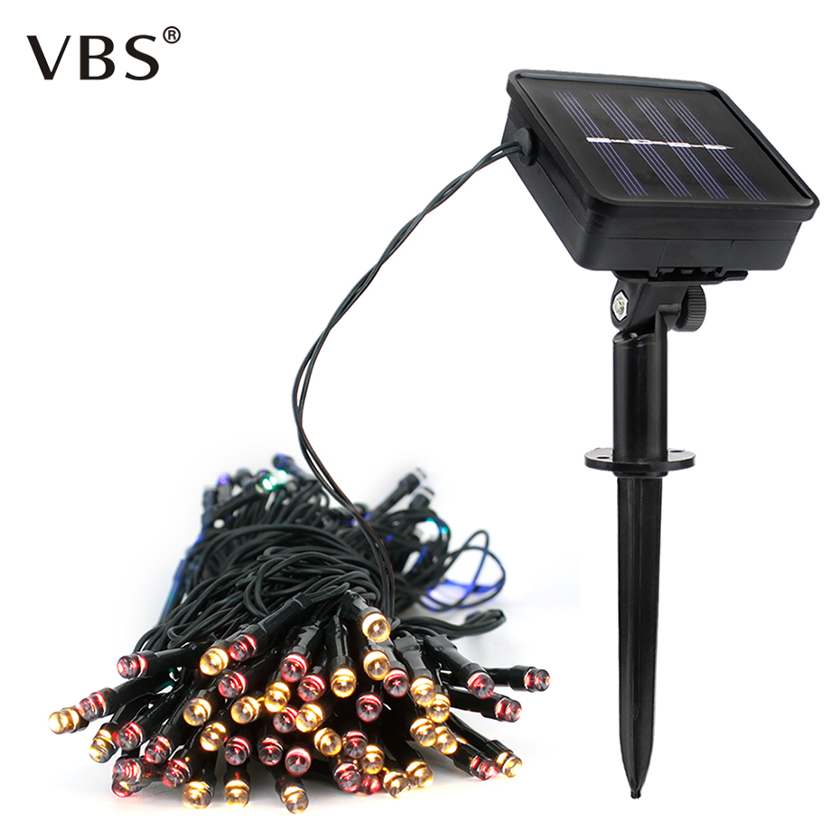 50/100/200 Led Solar String Lights 7M/12M/22M Outdoor Waterproof Street Houses Christmas Garden Decor Fairy Light Strip Chain