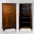 De luxo dobadoura do relógio de madeira sólida elm Gabinete com gaveta dobadoura do relógio Automático d de madeira armário de exposição de jóias