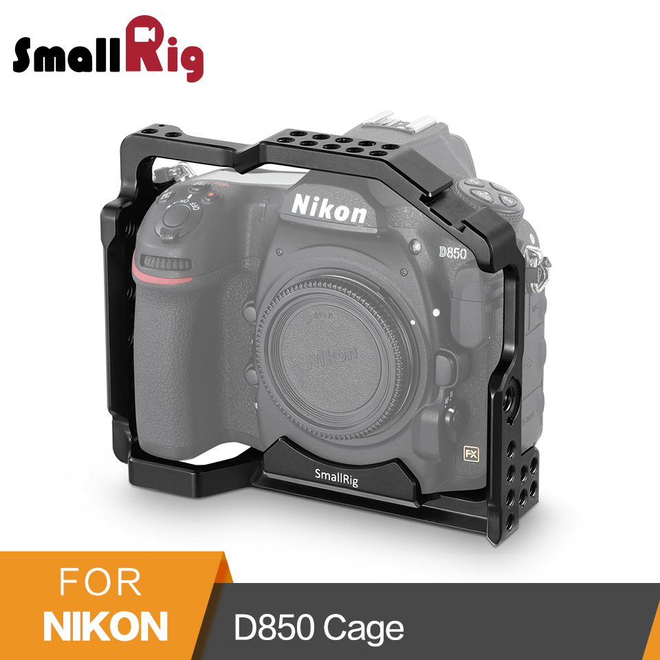 SmallRig for Nikon D850 Form-fitting Cage With Built-in Arca Swiss QR Plate And NATO Rail - 2129