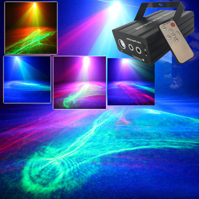 Club laser light projector,disco lighting,Effects RG Red Green Laser RGB LED Stage Light Home DJ Party Lighting Club Projector цены онлайн